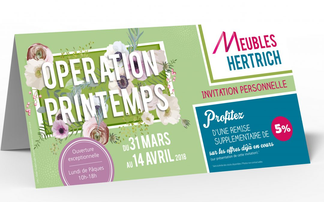 Invitation – Meubles Hertrich – EPFIG