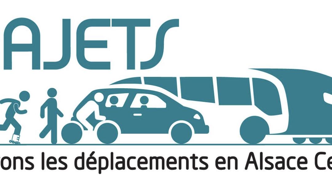 Logo pour l'Association TRAJETS : Promouvoir les déplacements alternatifs à la voiture en Alsace centrale